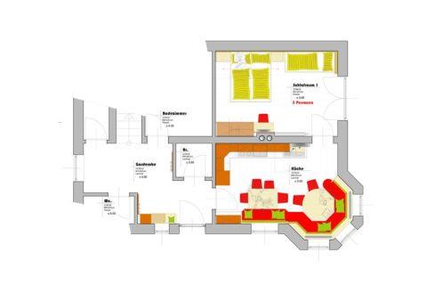 Erdgeschoß - Ferienhaus Deutschmann in St. Johann-Alpendorf